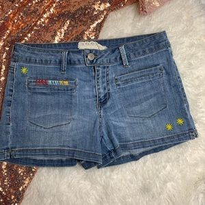 Altar'd State Denim Embroidered Shorts size 27